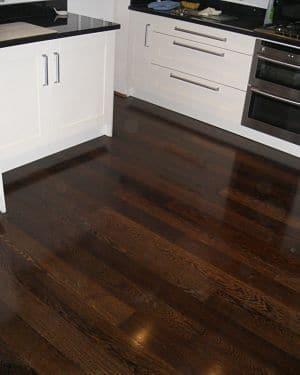 ebonized kitchen floor - AM Floor Sanding