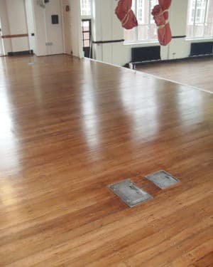 finished gym floor - AM Floor Sanding